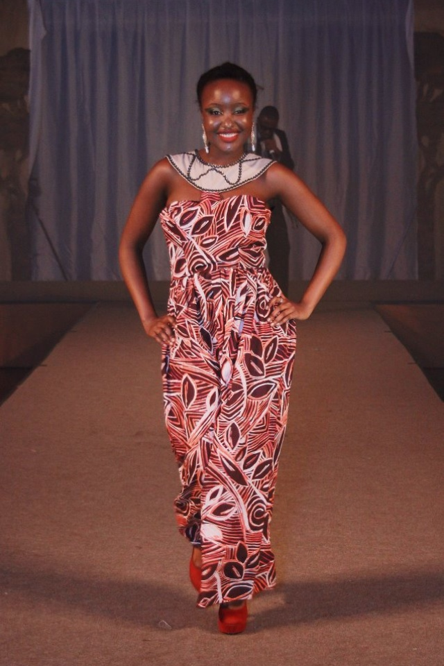 Tribal instinct 2- my maxi dress design. Designed, pattern cut and constructed myself