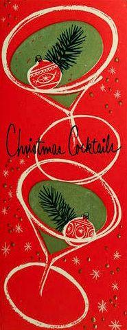 Vintage Christmas Card - cocktails                                                                                                                                                                                 More