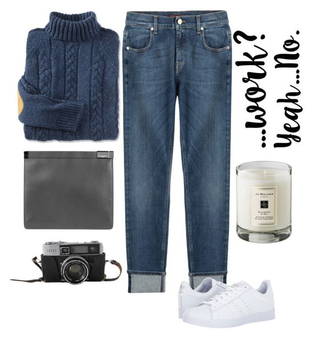 """Untitled #49"" by mariastoica on Polyvore featuring 7 For All Mankind, adidas, Maison Margiela and Jo Malone"