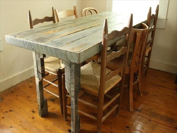 Best 25 Pallet dining tables ideas on Pinterest Dining  : 1e759a6b235cb3f21c232c01aa24e3d0 recycled pallets wood pallets from www.pinterest.com size 600 x 450 jpeg 37kB