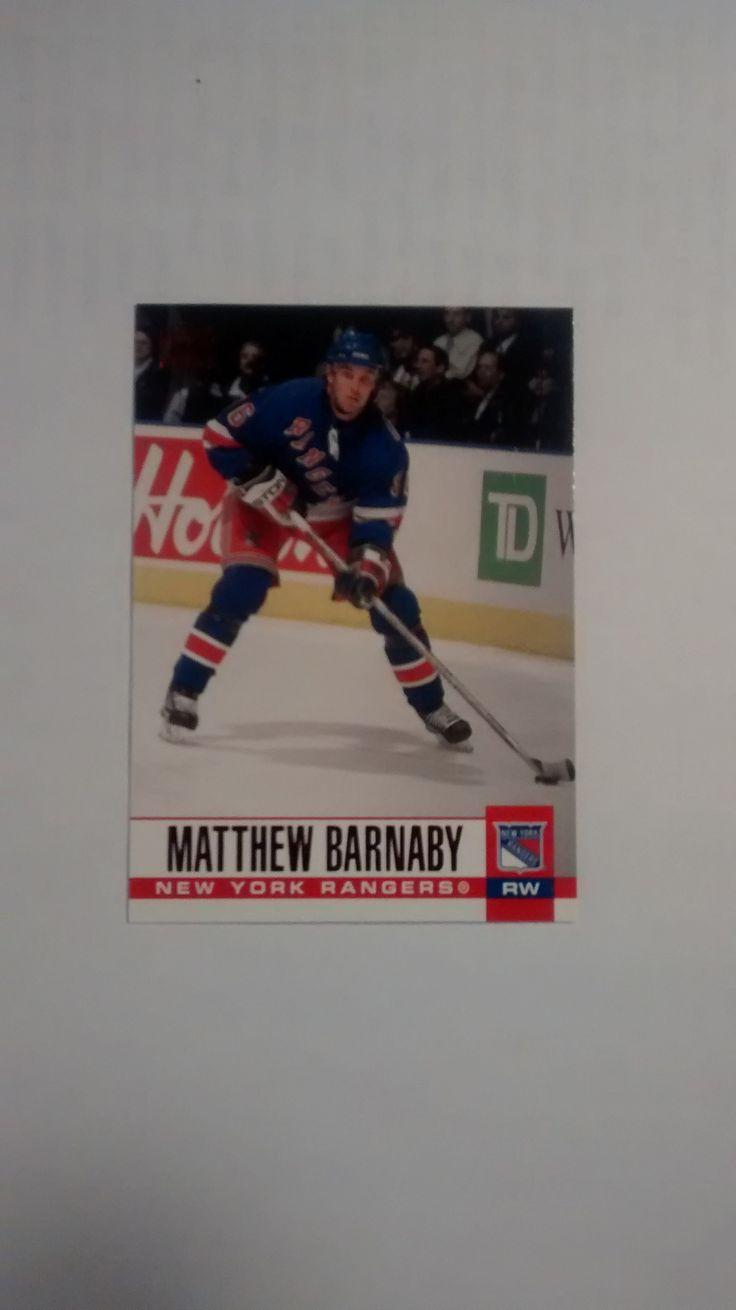 2003-04 PACIFIC HOCKEY RED #219 MATTHEW BARNABY NEW YORK RANGERS