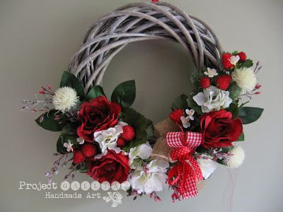 ProjectGallias: Wianek dla Mamy #projectgallias, Floral Wreath, Door decoration wreath
