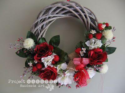 ProjectGallias: Wianek dla Mamy #projectgallias, Floral Wreath, Door decoration wreath