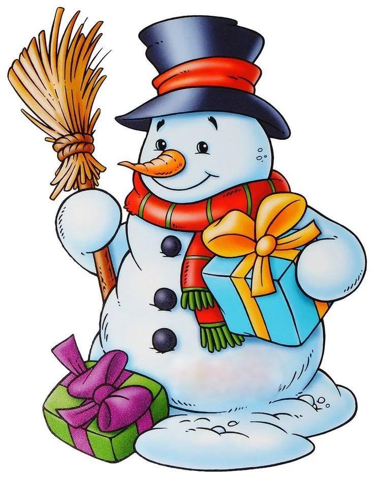 Прикольные открытки снеговики