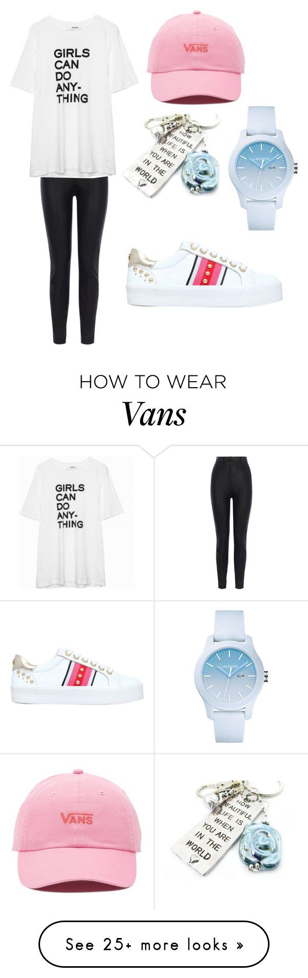 """Untitled #136"" by estinur23 on Polyvore featuring Carvela, Karen Millen, Zadig & Voltaire, Vans and Lacoste"
