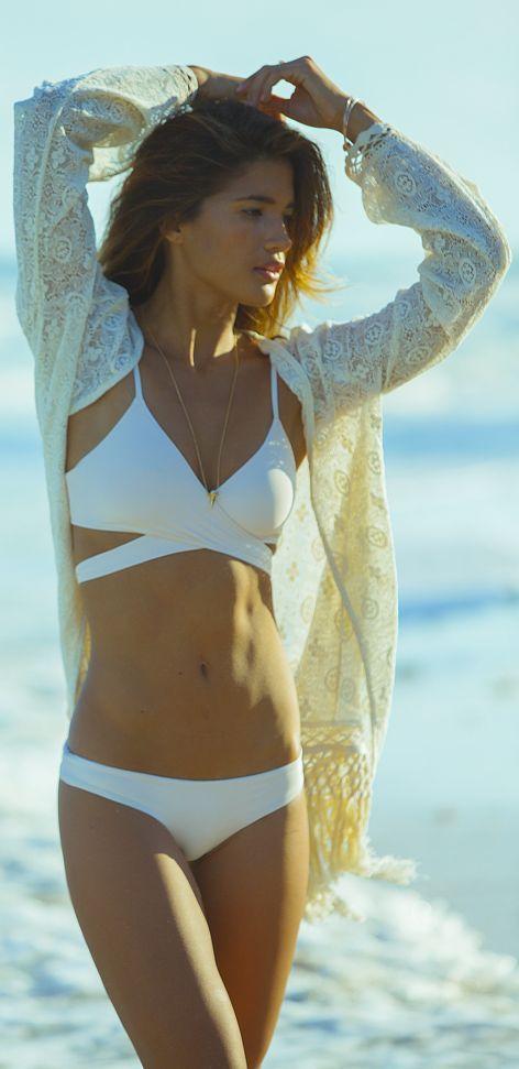 White Criss Cross Top Bikini