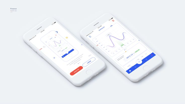Finance mobile app dribbble