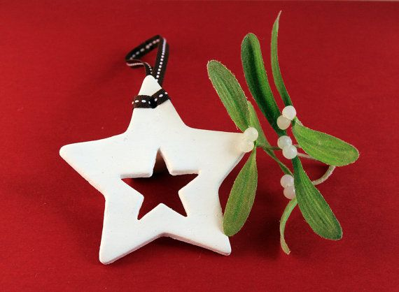 Star Clay Christmas Tree Ornament by ALittleBitOfLemon on Etsy