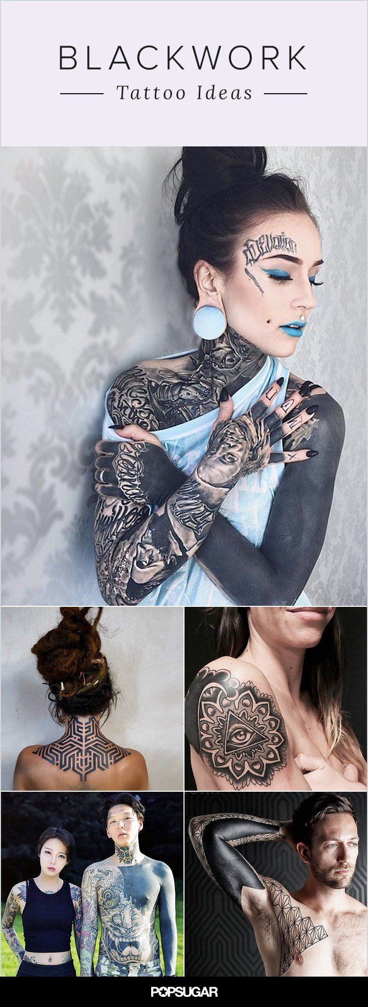 Studies show that black ink helps prevent skin cancer, so get inspired by these beautiful blackwork tattoos!