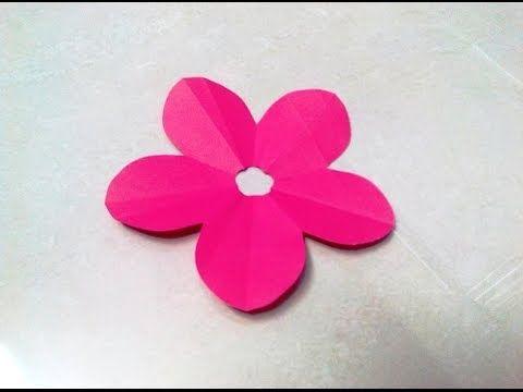 How to make a KIRIGAMI paper blossom flower - 2