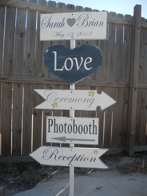 Directional sign/ Navy Wedding Signs Rustic by 2chicsthatbelieve, $150.00
