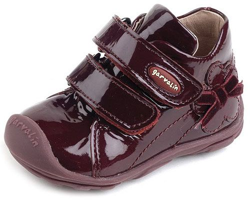 Garvalin - made in Spain ... The quality is unbelievable!: Flexibility Rubber, Patent Leather, Burgundy Colors, Toddlers Shoes, Cushions Leather, Leather Footb, Arches Support, Bows Details, Garvalin 111322B