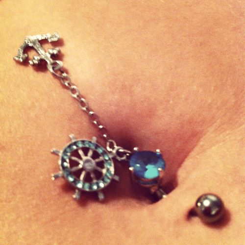 If I were to EVER get a belly button ring, this is adorable.