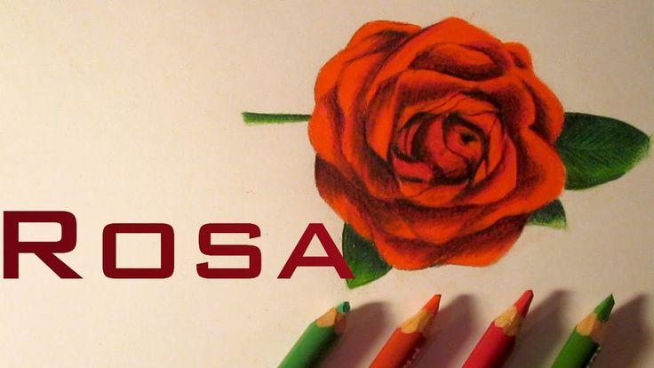 Dibujo de una hermosa rosa , cómo dibujar rosas HD                              …