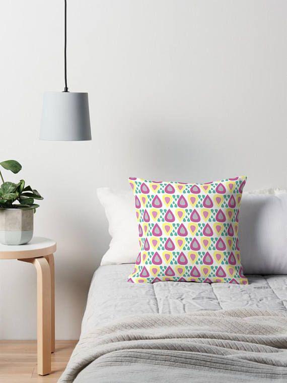 Purple cushion Raindrops Cushions bright throw pillow