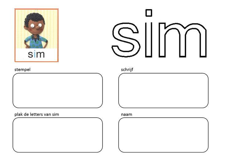 Stempel en schrijf: Kern 1 - SIM