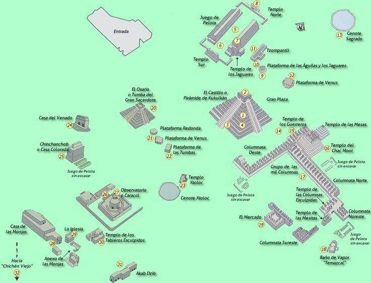 Chichén Itzá Map