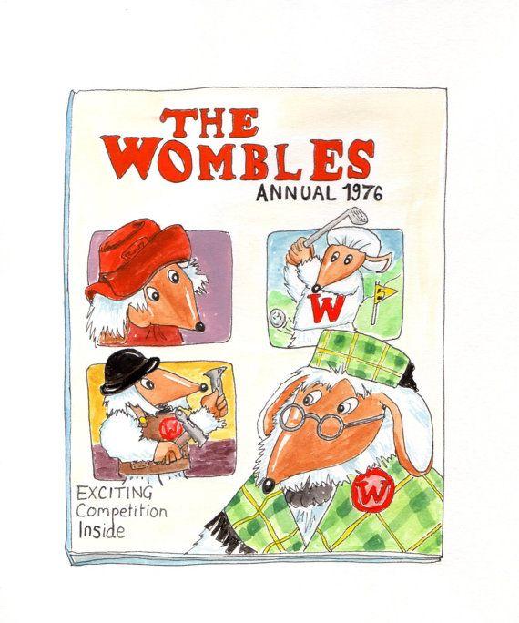 Wombles illustration print by FHAF on Etsy