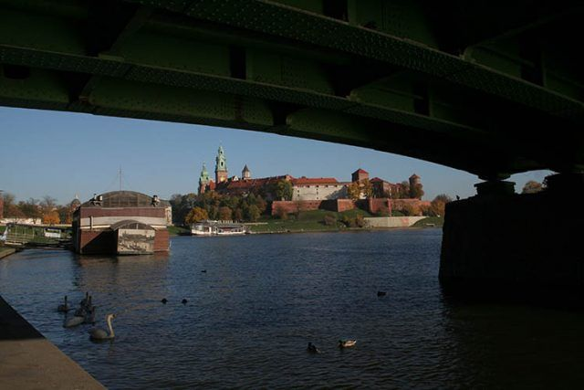 Poland Krakow Wawel Castle From Bridge
