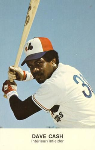 1977 Montreal Expos Postcards #9 Dave Cash Front