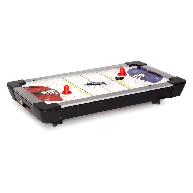 Carrom 42 in. Power Play Table Top Air Hockey - The Carrom 42 in. Power Play Table Top Air Hockey game is ready for play on your table top. Equipped with an UL-approved high output electric moto -...