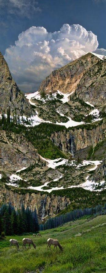 PARQUE NACIONAL DE LAS MONTAÑAS ROCOSAS EL Parque Nacional situado al noroeste de Denver , en el centro-norte de Colorado ,