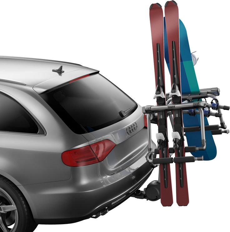Thules 9033locking hitch skicarrier is truly a rack for all seasons. This rack transforms your Thule bike carrier into a ski and board carrier, so youll be able to haul all of your toys! #FathersDay #FathersDayGift  Shop Here: https://www.crutchfield.com/I-rPTRcFTHR/p_0949033/Thule-9033-Tram-Ski-Carrier.html