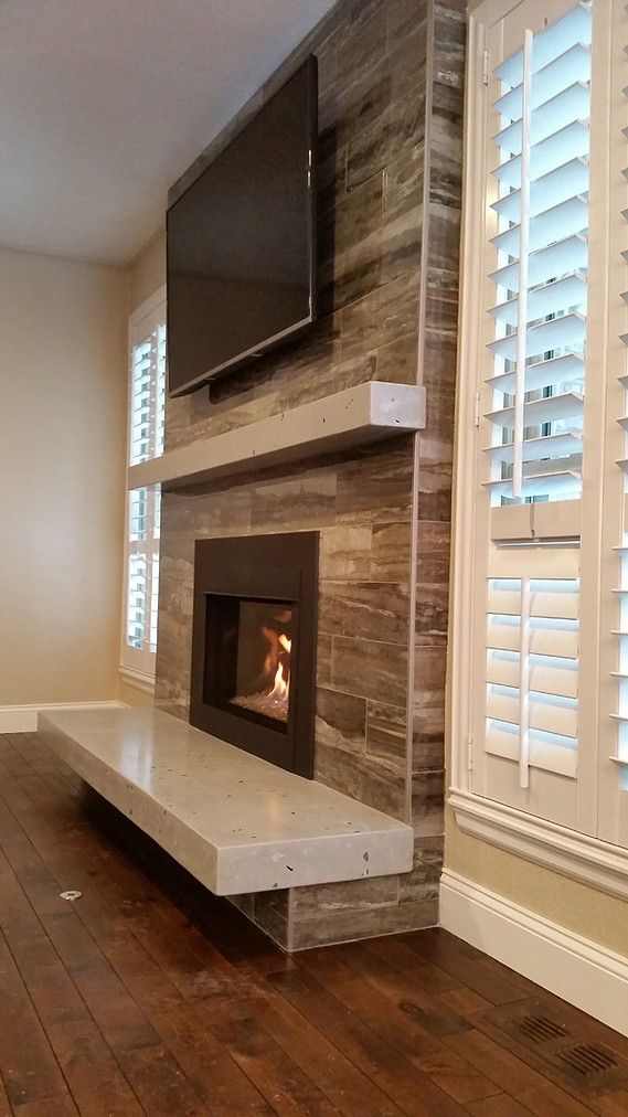 Floating Hearth Fireplace In 2019 Living Room With