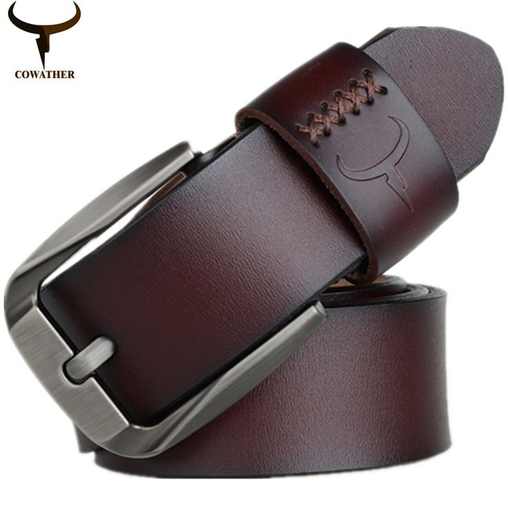 COWATHER Vintage style pin buckle cow genuine leather belts for men 130cm high quality mens belt cinturones hombre free shipping //Price: $35.74 & FREE Shipping //     #WallArt
