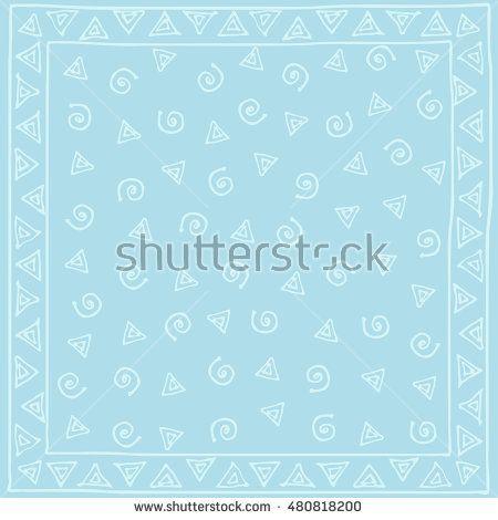 Design ornament for shawls, pocket, textile. Vector illustration and raster copy.