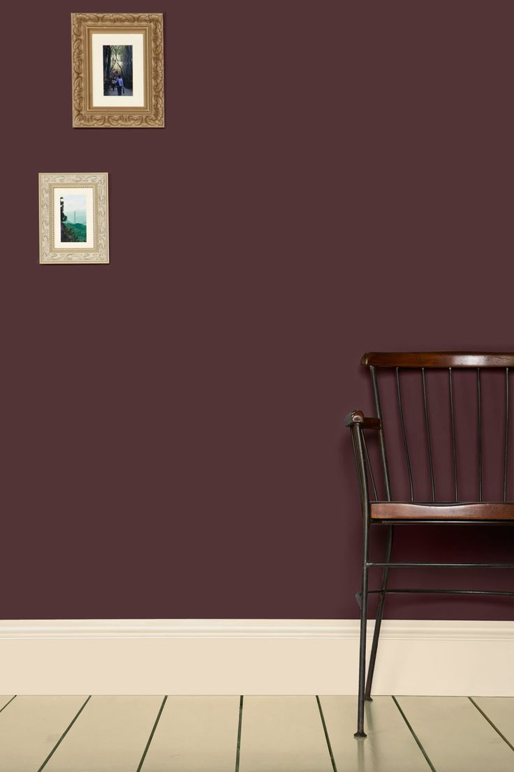 """Brinjal"" paint colour by Farrow and Ball. have this in eggshell and came out too purple/red. Looking for more black/purple..."