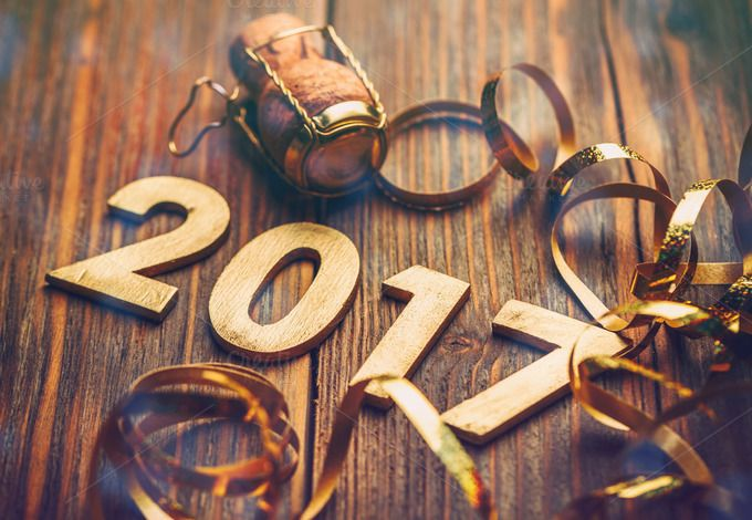 Wooden number of 2017 by Grafvision photography on @creativemarket