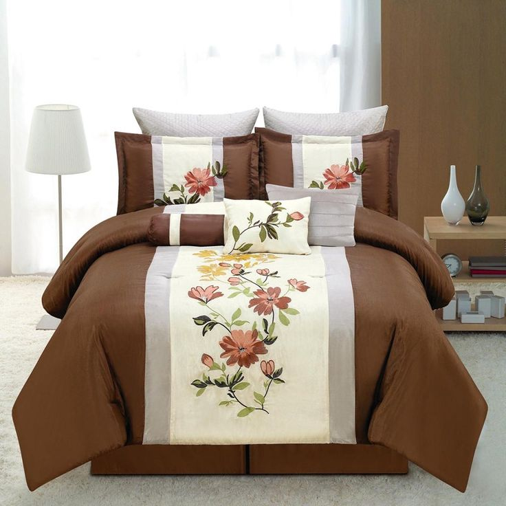9pc Embroidered Queen Bedding 690852831 | Bedding Sets ...