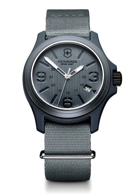 Victorinox Grey Matte with Grey Canvas Strap