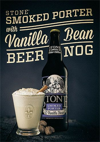 #stonebrewing Smoked Porter with Vanilla Bean Beer Nog  http://www.stonebrewing.com/holiday/2013_HolidayCards_SmokedPorterBeerNog.pdf