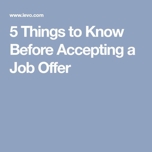 Best  Job Offers Ideas On   Job Offer On The Job