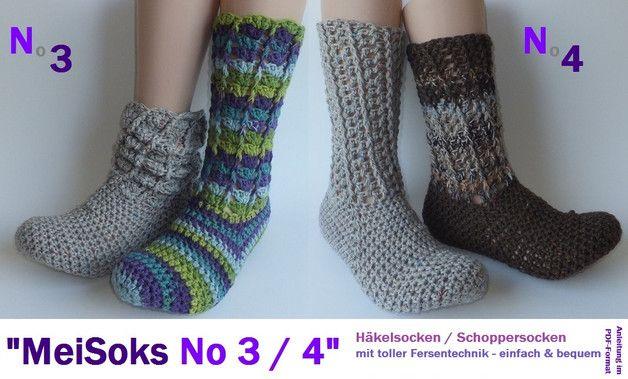 MeiSoks No34 warme Häkelsocken - Ebook made by p-pekee via DaWanda.com