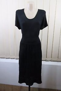 Size 2XL 18 Ladies Black Knit Dress Tunic Casual Office Gothic Goth Grunge Style | eBay