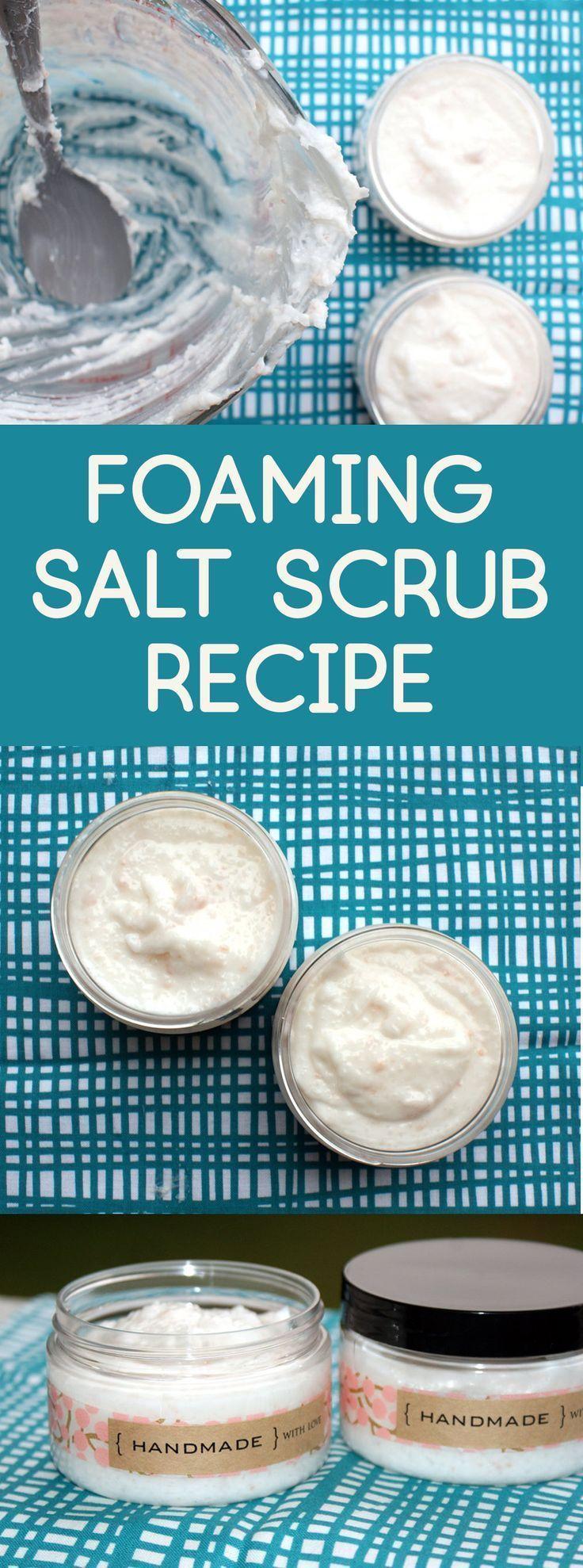 DIY Foaming Salt Scrub: A 3-in-1 Skin Care Product & Gift Idea! This DIY foaming…