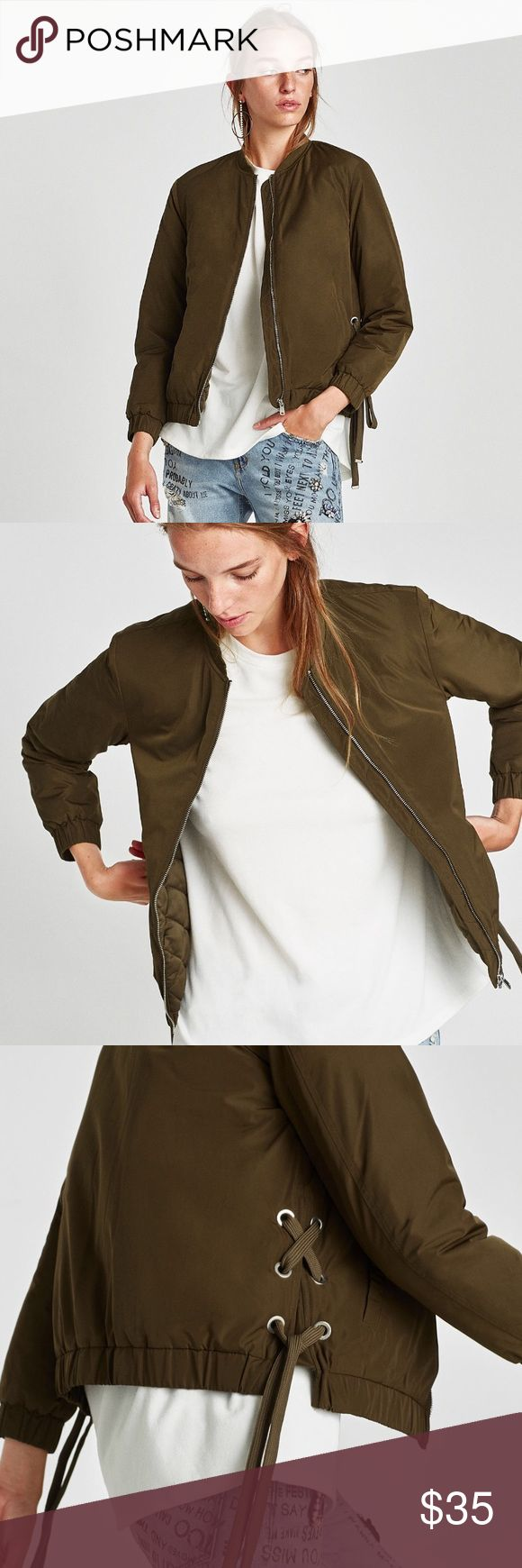Zara bomber jacket with bows 😎 In good condition!   Has only been worn a few times  Retails for $50 USD  I'm open to reasonable offers ONLY   Super cute! I get a lot of compliments Zara Jackets & Coats
