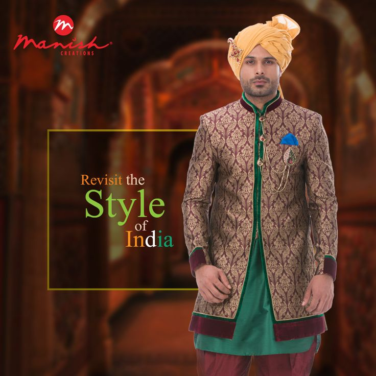 The best in Indian men's wear is here to impress you with its great handiwork and quality fabrics. Be the man with the grace of royalty and let the spotlights be on you.  #ManishCreations #MensFashion #Ethnic #StyleOfIndia #IndianWear #Traditional #Royal