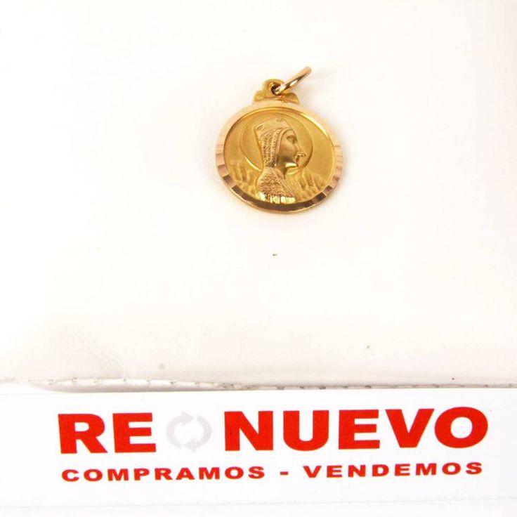 #Medalla# corazón jesús# y virgen# oro# de segunda mano E269098O#SEGUNDAMANO#