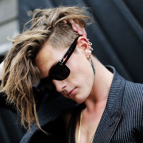 Punk Hairstyles For Men - Undercut with Comb Over