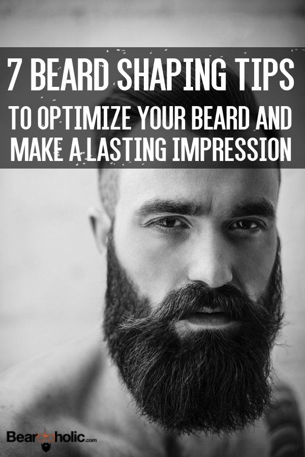 7 Beard Shaping Tips to Optimize Your Beard Style From http://Beardoholic.com