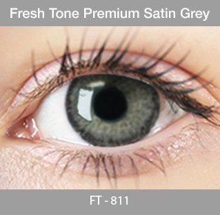 Fresh Tone Premium Satin Grey - Buy Best Quality Non Prescription Colored Contact Lenses - 1