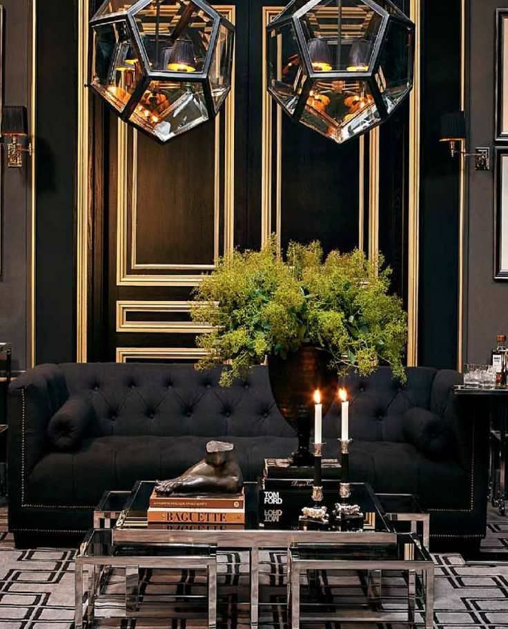 Paolo Sofa by Eichholtz - Panama Black – Allissias Attic & Vintage French Style