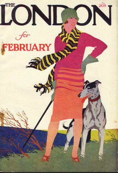 London Magazine Tom Purvis art print | shelleysdavies.com Lady golfer