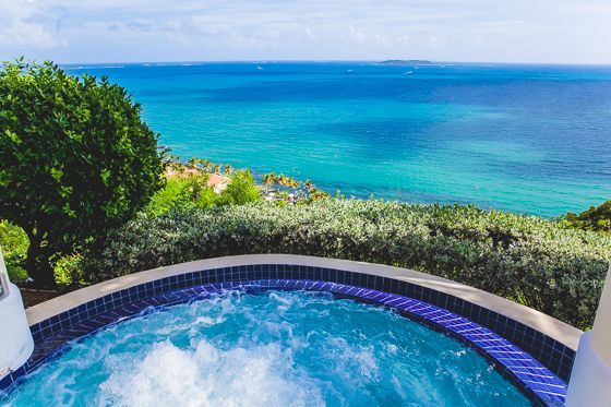 What could be more luxurious than sitting in a hot tub overlooking these aqua blue waters, Pureto Rico?