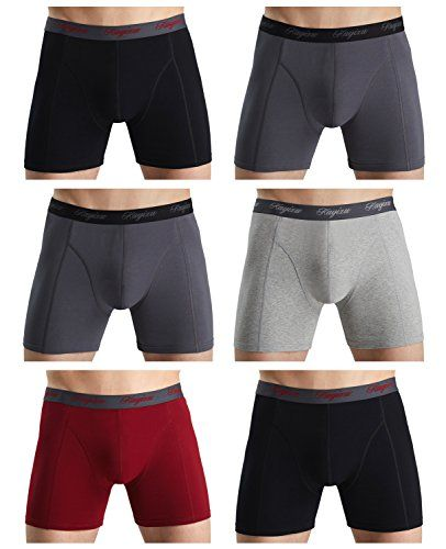 eca26b00368f KAYIZU Men's Underwear Soft Stretch Boxer Brief (6-Pack) Small ...