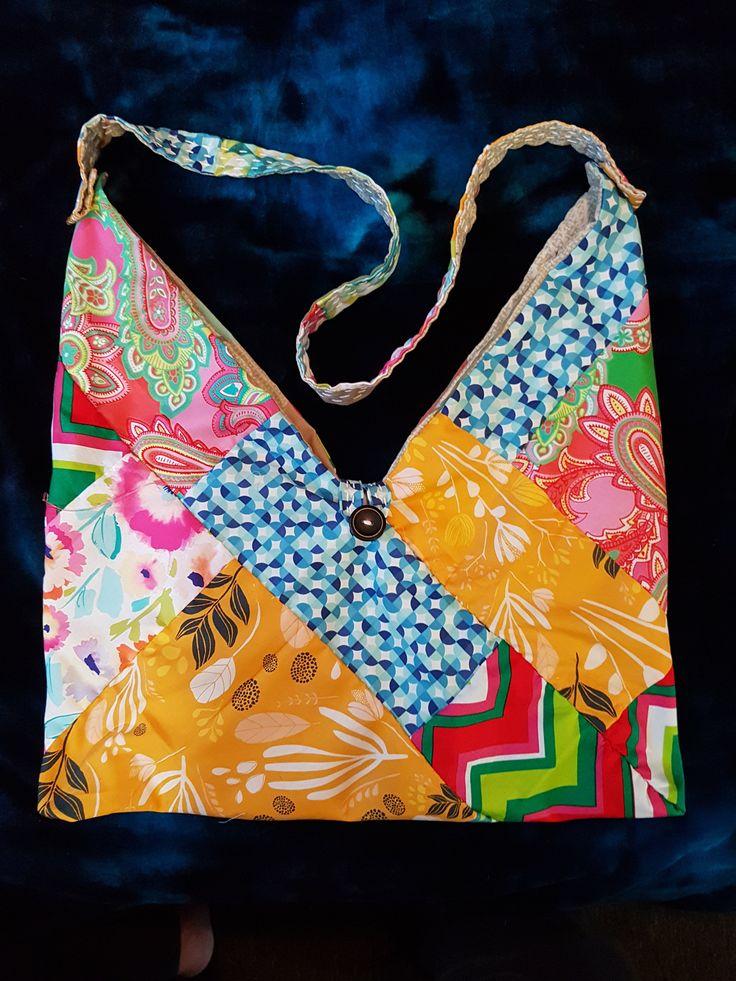Kantha Origami Bento Bag 2 - OOAK by StitcheryDooKantha on Etsy
